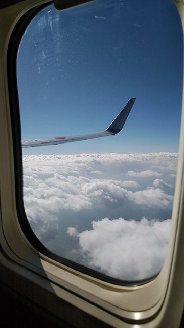 羽田空港に向かう飛行機の中(投稿者:下関のかめちゃん )